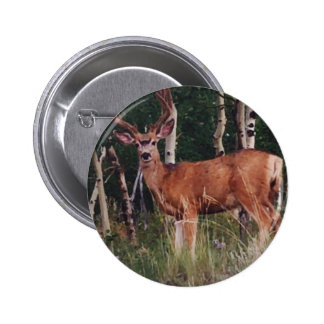 Wildlife Magestic Deer Photograph Button