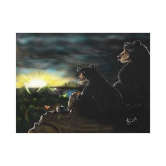 Wildlife Painting Canvas Print