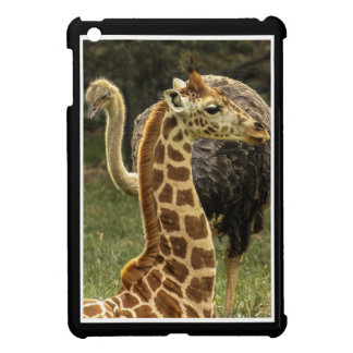 Wildlife Photo of Giraffe and Ostrich iPad Mini Cover