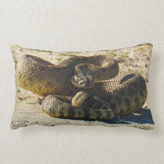 Wildlife pillow, reptiles, snakes, rattlesnake lumbar cushion