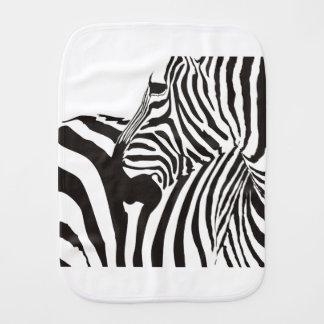 Wildlife Print, Zebra Baby Burp Cloth