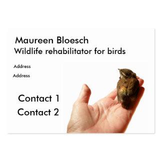 Wildlife rehabilitator large business cards (Pack of 100)