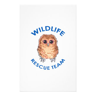 WILDLIFE RESCUE TEAM PERSONALIZED STATIONERY