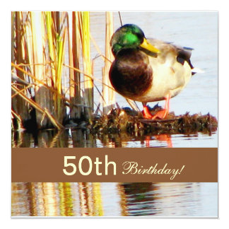 Wildlife Scene 50th Birthday Party Invitation