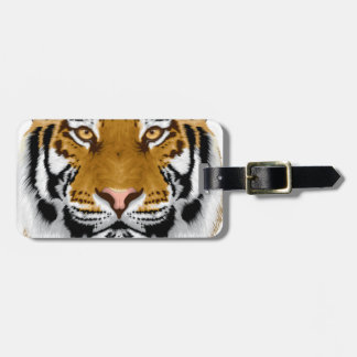 wildlife tiger head animal design luggage tag