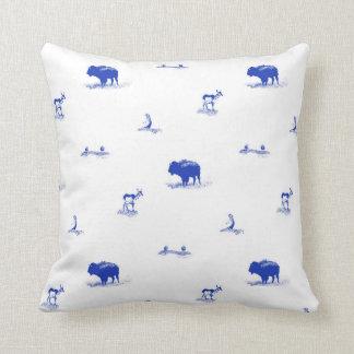 Wildlife Toile Cushion