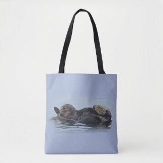 Wildlife tote, sea otters, marine life tote bag