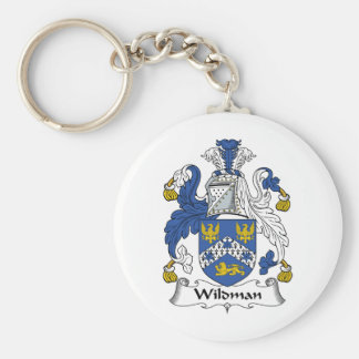 Wildman Family Crest Basic Round Button Key Ring