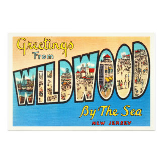 Wildwood by the Sea New Jersey NJ Vintage Postcard Photographic Print