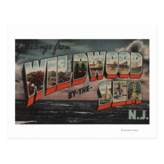 Wildwood-by-the-Sea, New Jersey Postcard