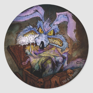 Wile E Coyote A Loony in the Box Classic Round Sticker