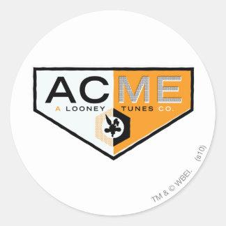 Wile E Coyote Acme 2 Round Sticker