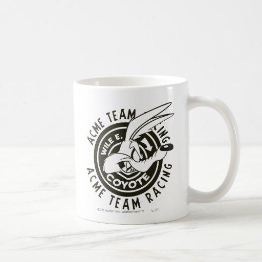 Wile E. Coyote Acme Team Racing B/W Mug