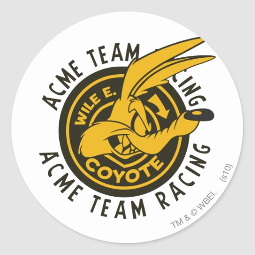 Wile E. Coyote Acme Team Racing Round Sticker