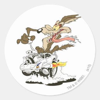 Wile E. Coyote Crazy Glance Round Sticker