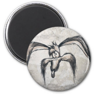 Wile E Coyote Down on his Luck 6 Cm Round Magnet