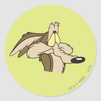 Wile E. Coyote Impending Doom Classic Round Sticker