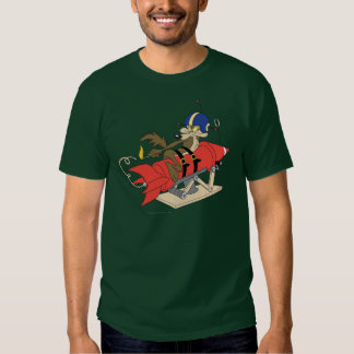 Wile E. Coyote Launching Red Rocket T Shirts