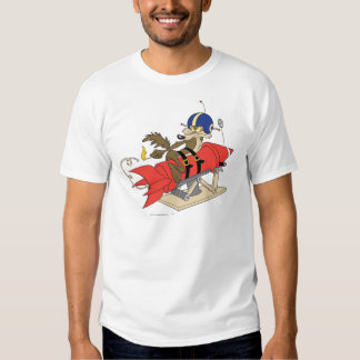 Wile E. Coyote Launching Red Rocket Tees