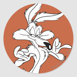 Wile E. Coyote Looking Pleased Classic Round Sticker
