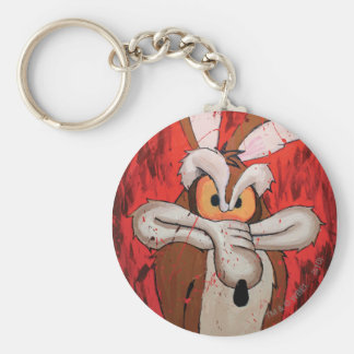 Wile E Coyote Red Fury Basic Round Button Key Ring