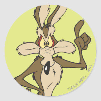 Wile E. Coyote Standing Tall Round Sticker