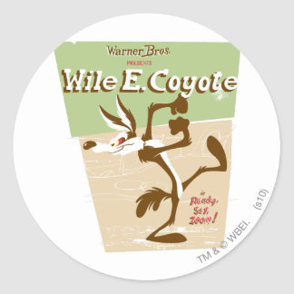 Wile Ready, Set, Zoom! Classic Round Sticker