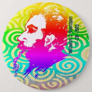 Wilhelm C. Roentgen Rainbow Colors Button