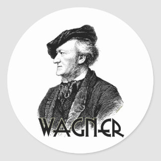 Wilhelm Richard Wagner Round Sticker