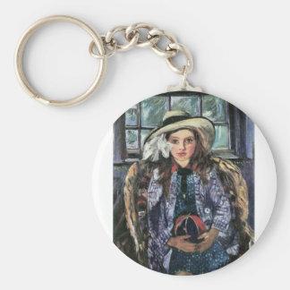 Wilhelmina with ball by Lovis Corinth Key Chains