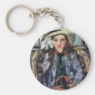 Wilhelmina with ball by Lovis Corinth Keychain