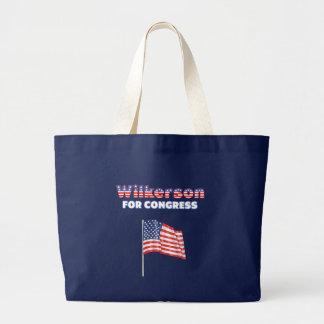 Wilkerson for Congress Patriotic American Flag Des Canvas Bag