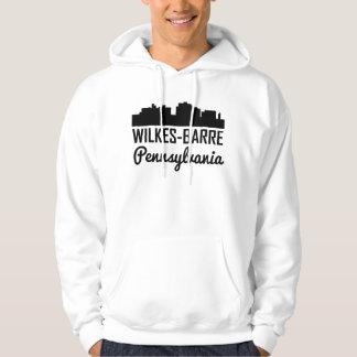 Wilkes-Barre Pennsylvania Skyline Hoodie