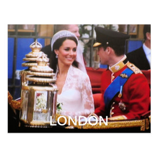 Will and Kate Royal Wedding Postcard