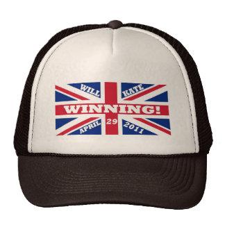 Will and Kate Winning Wedding Mesh Hat