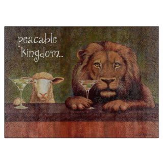 "Will Bullas cutting board ""peaceable kingdom..."""