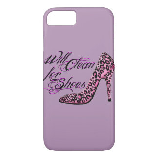 Will Clean for Shoes funny women's cell phone case