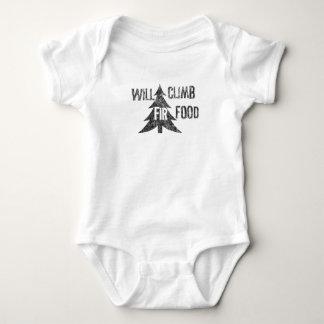 Will Climb Fir Food Baby Bodysuit