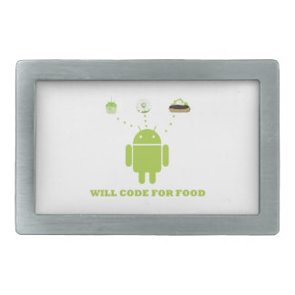 Will Code For Food (Android Software Developer) Belt Buckles