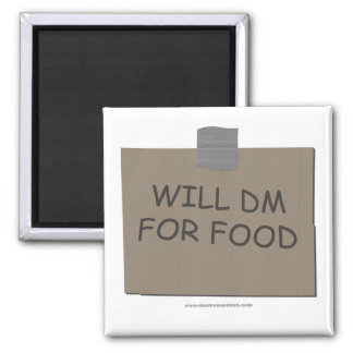 Will DM For Food Square Magnet