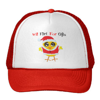 Will Flirt For Gifts - Cute Santa Chick Hat