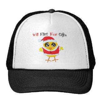 Will Flirt For Gifts - Cute Santa Chick Trucker Hat
