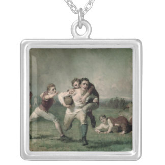 Will he do it? silver plated necklace
