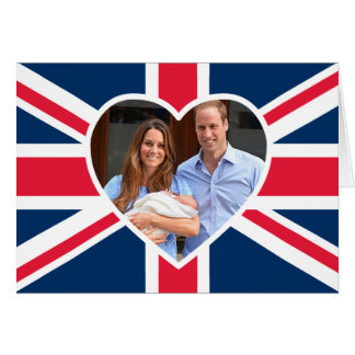 Will Kate Prince George - British Flag Cards