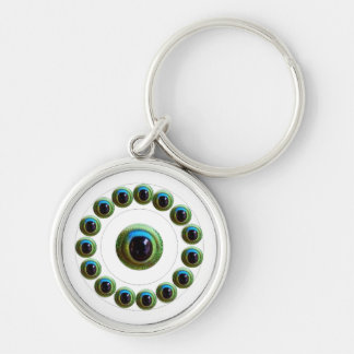 Will Kill Evil - Dragon's Eye Collection Silver-Colored Round Key Ring