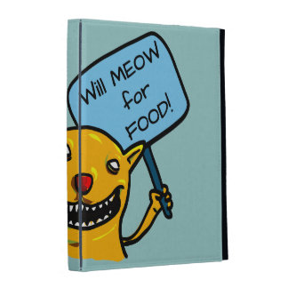 Will MEOW for FOOD! iPad Cases