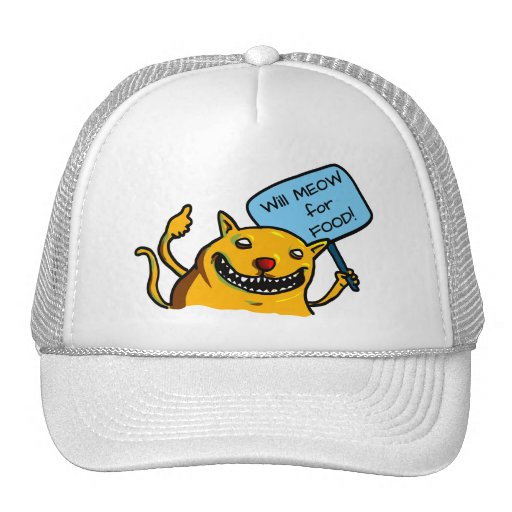 Will MEOW for FOOD! Mesh Hat