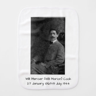 Will mercer (will Marion) cook Burp Cloth