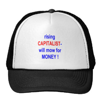 WILL MOW FOR MONEY TRUCKER HATS