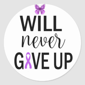 Will Never Give Up Fibromyalgia Stickers